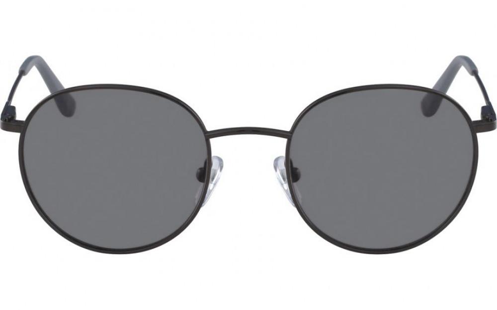نظارات كالفن كلاين الشمسيه للجنسين - شكل دائري - لون أسود - زكي