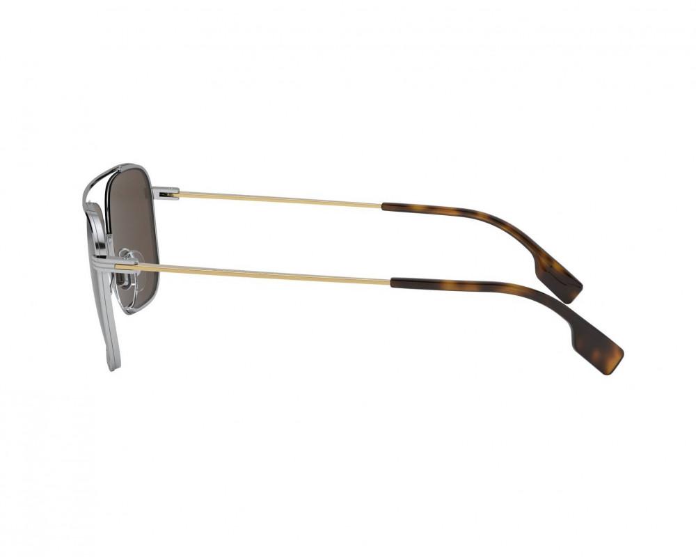 سعر نظارة بربري شمسية للرجال - شكل مستطيل - لون فضي - زكي للبصريات