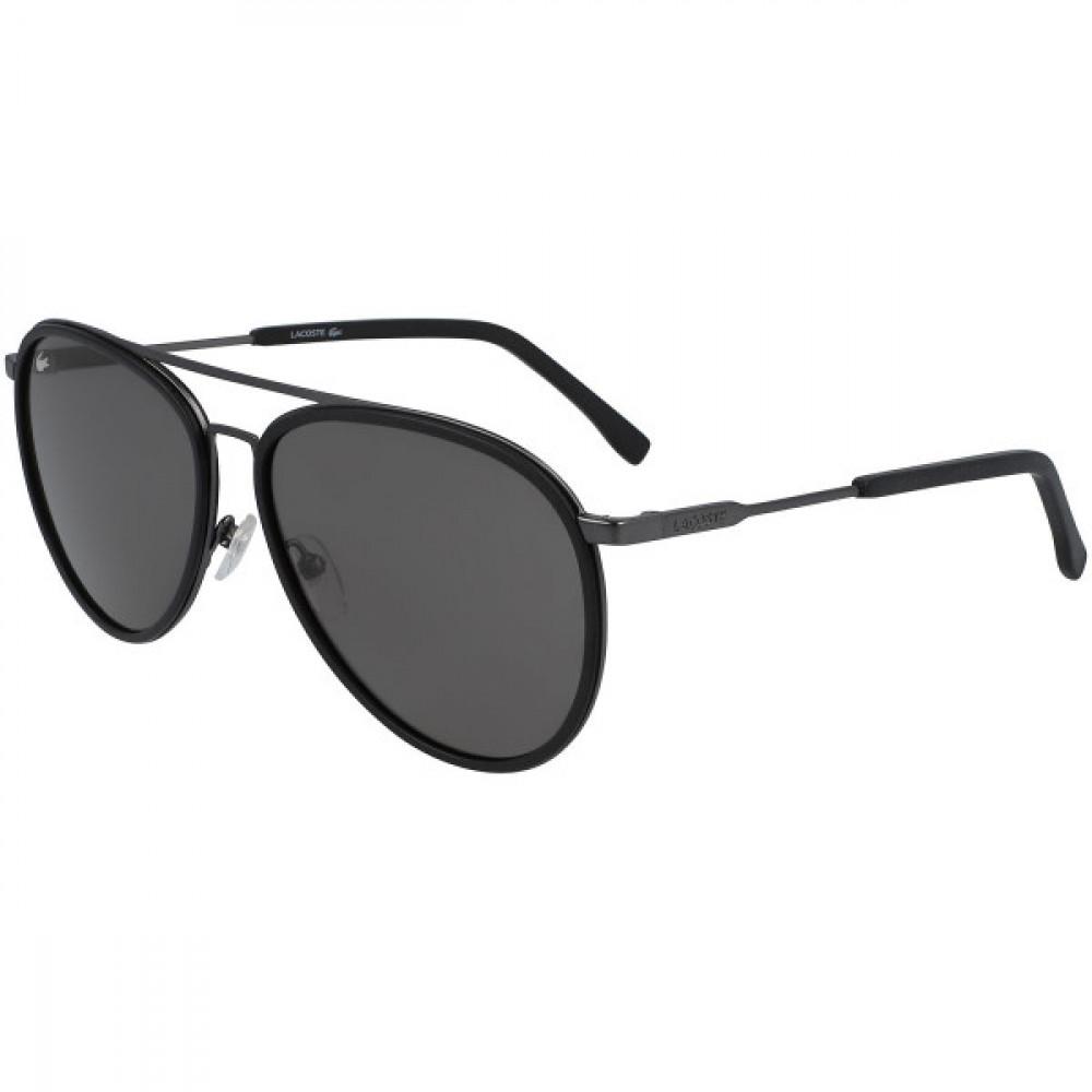 نظارة لاكوست شمسية للجنسين - لون اسود - شكل افياتور - زكي للبصريات