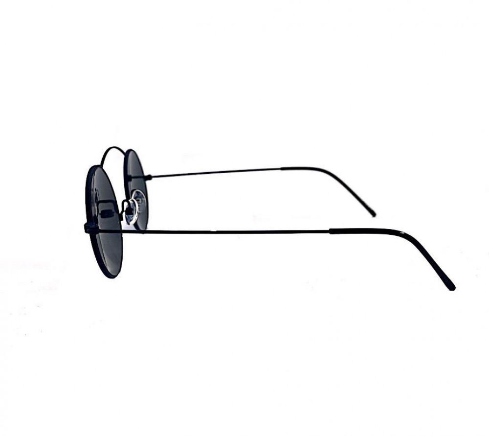 سعر نظارة لومير شمسية للرجال - شكل دائري - باللون أسود - نظارات زكي