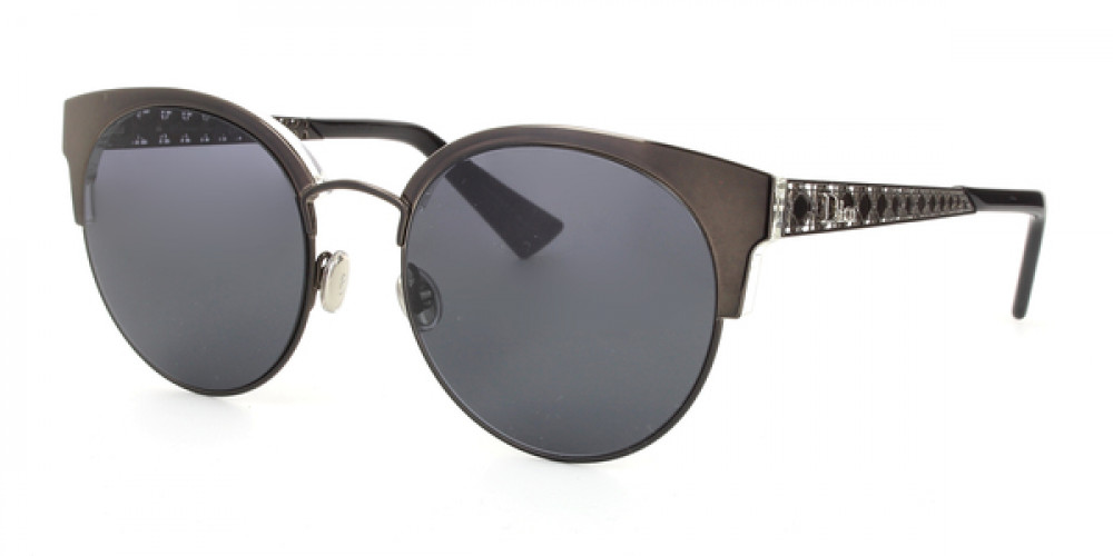 نظارات شمسية نسائية ديور - شكل كات أي - لون فضي - زكي