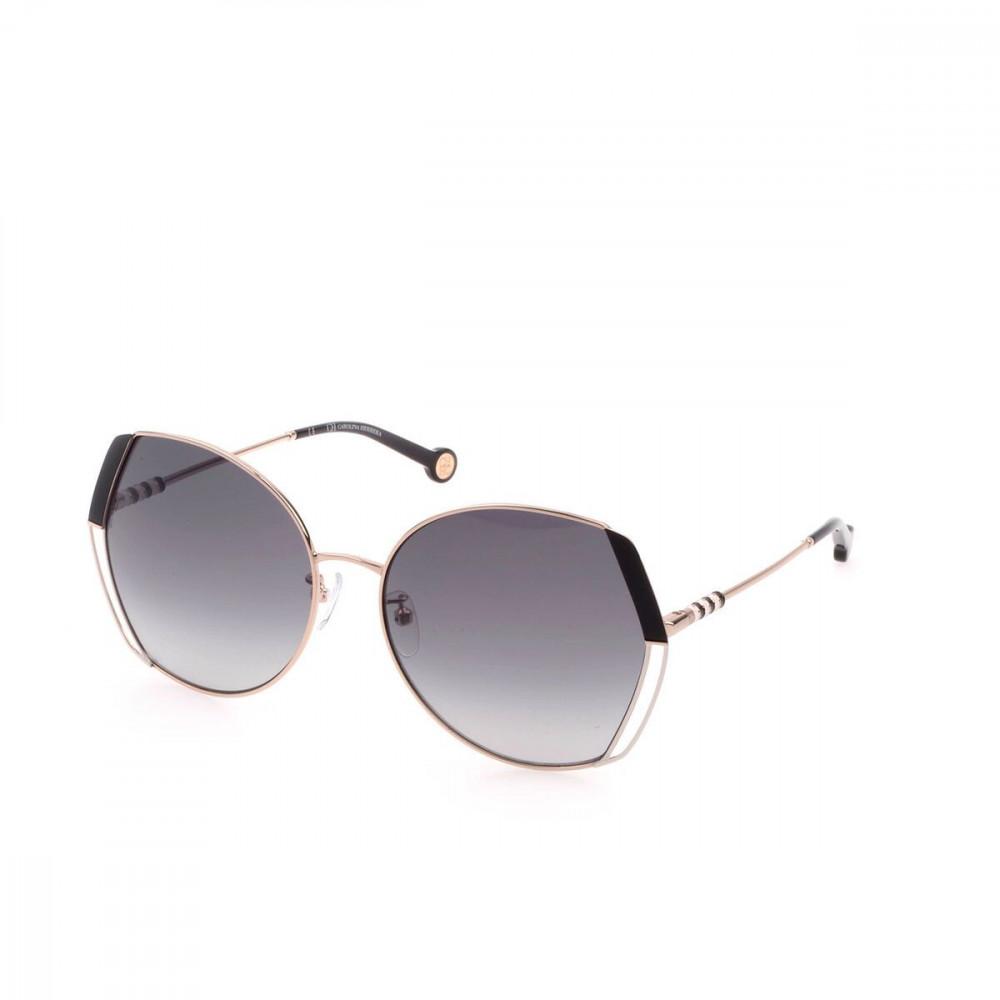 نظارات كارولينا شمسية للنساء - شكلها غير منتظم - لون ذهبي - زكي