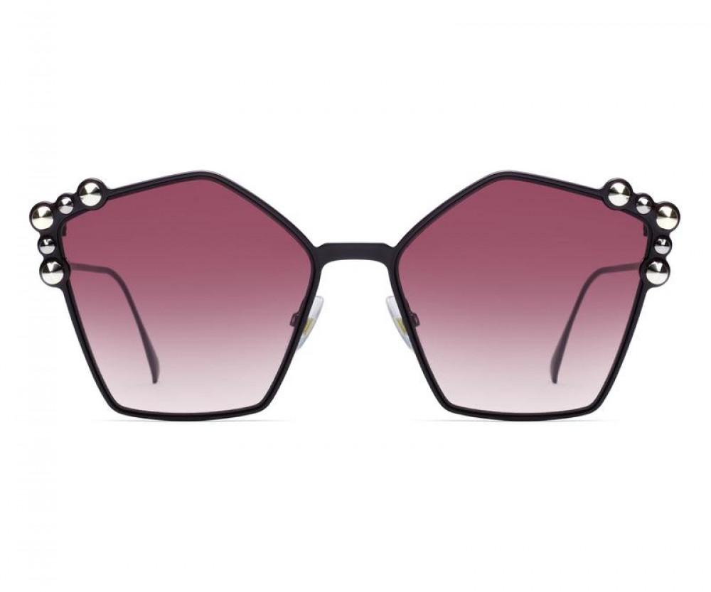 سعر نظارة فندي نسائي شمسية - غير منتظمه الشكل - لون اسود - زكي للبصريا