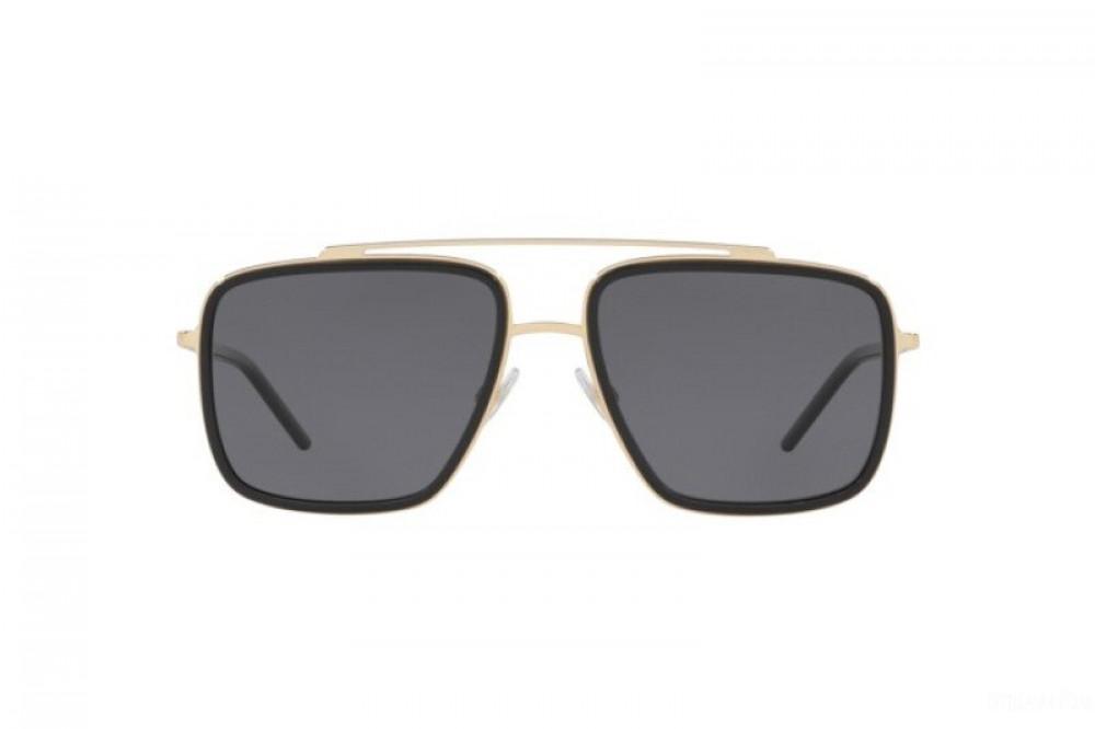 نظارة دولسي اند جابانا شمسية للرجال - شكل مربع - لون اسود - زكي
