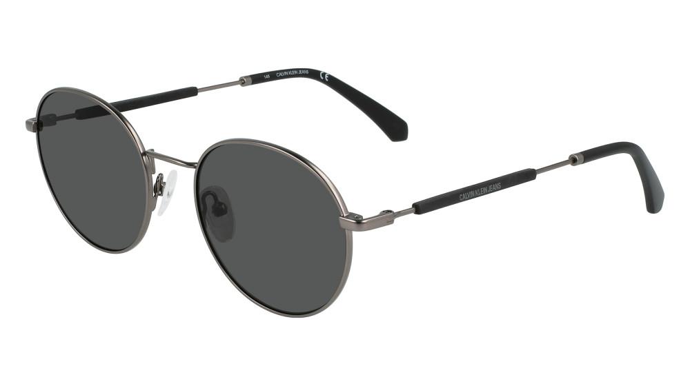 نظارات كالفن كلاين الشمسية للرجال - شكل دائري - لون أسود - زكي للبصريا