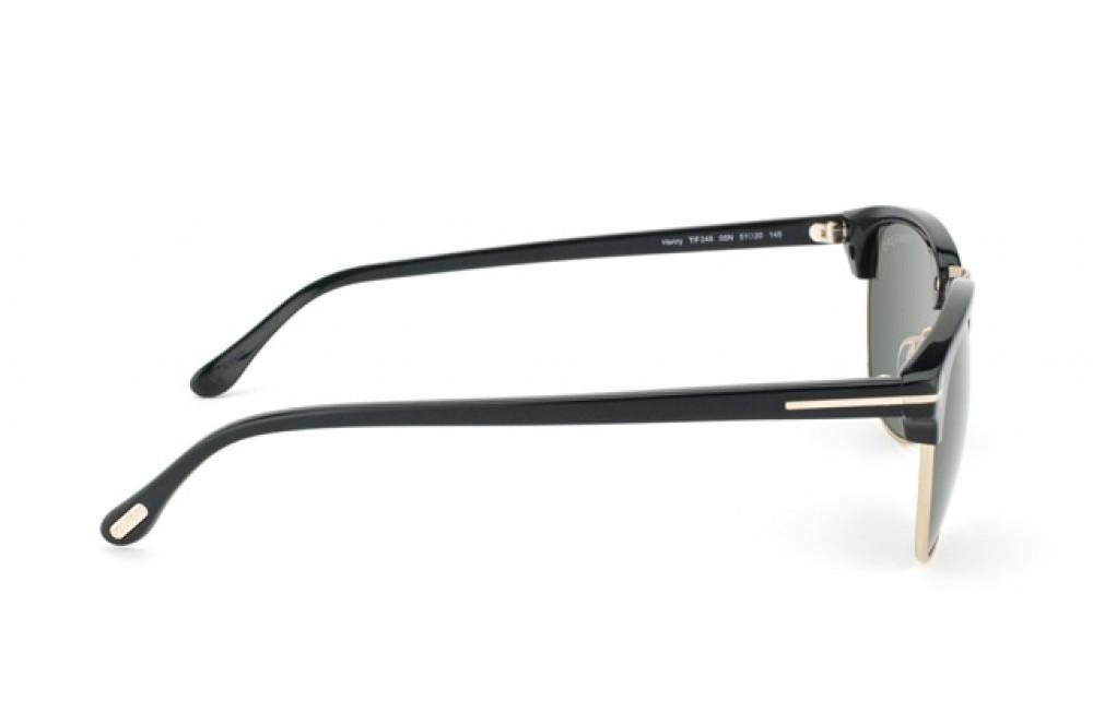 احسن نظارة توم فورد شمسية للرجال - لون ذهبي - زكي للبصريات
