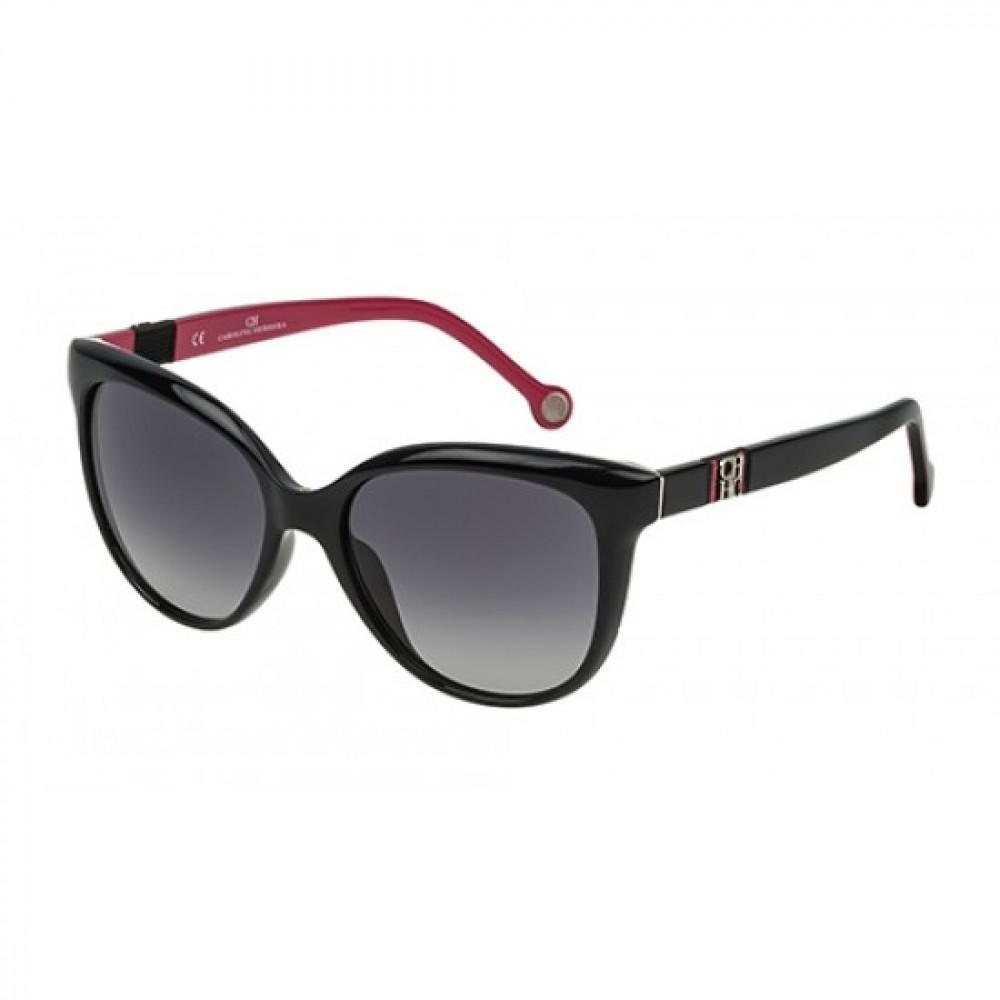 نظارات كارولينا شمسية للنساء - شكل كات اي - لونها اسود - زكي