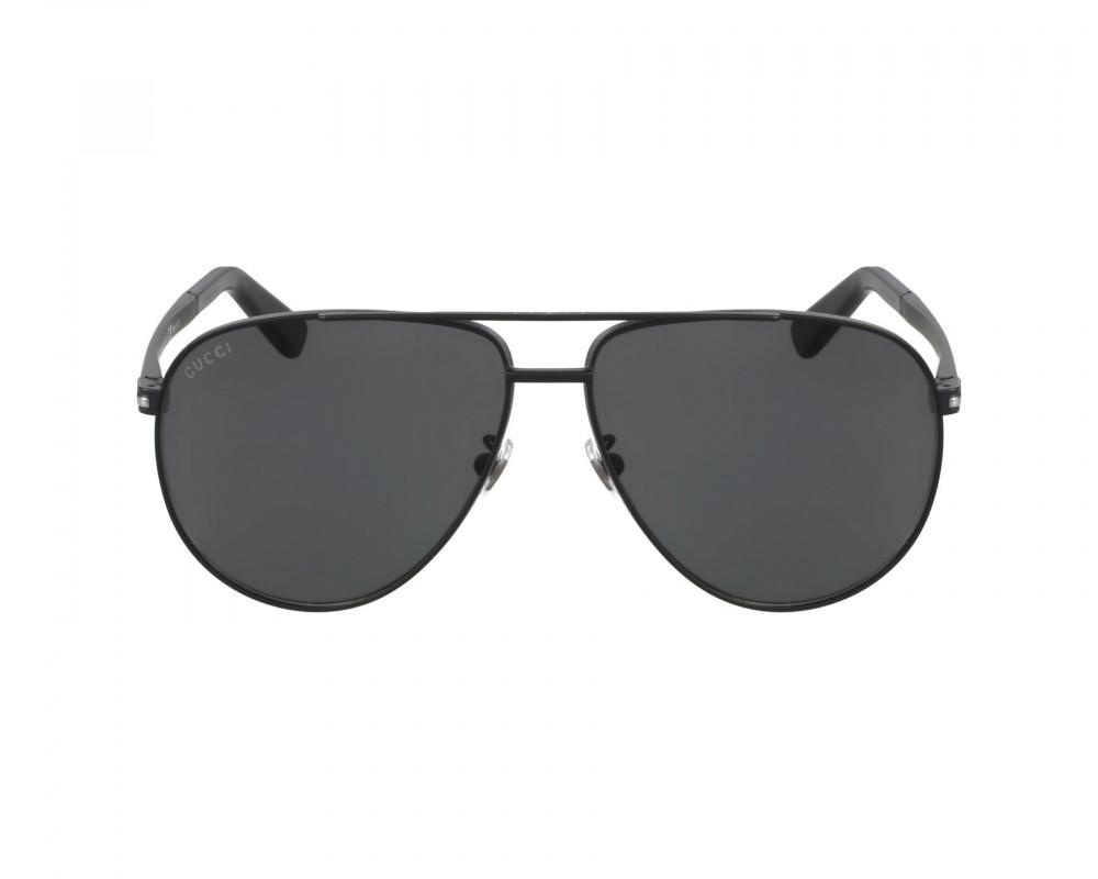 افضل نظارة قوتشي شمسية للرجال - شكل افياتور - لون أسود - زكي للبصريات