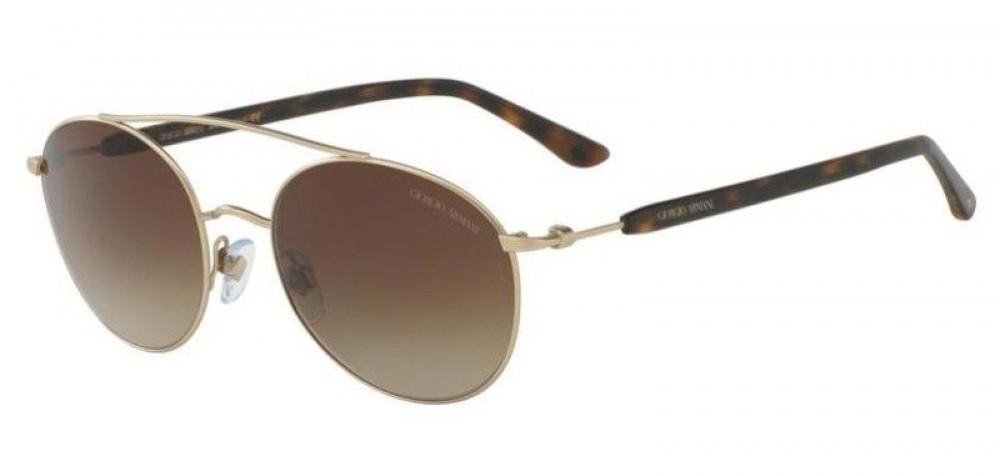 نظارة جورجيو ارماني شمسية للجنسين - شكل دائري - لون ذهبي - زكي للبصريا