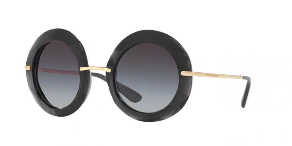 نظارة دولسي اند جابانا شمسية للنساء - شكل دائري - لون أسود - زكي
