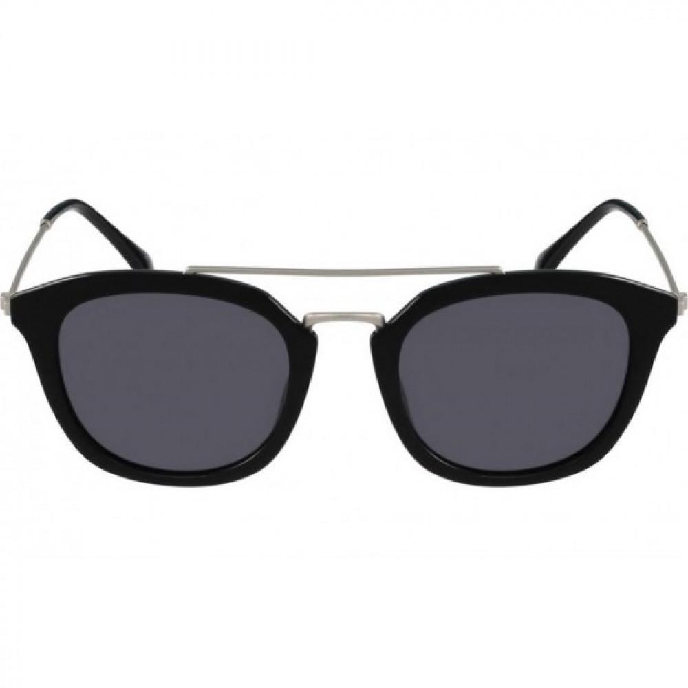 نظارات كالفن كلاين الشمسيه للجنسين - غير منتظمة الشكل - لون أسود - زكي