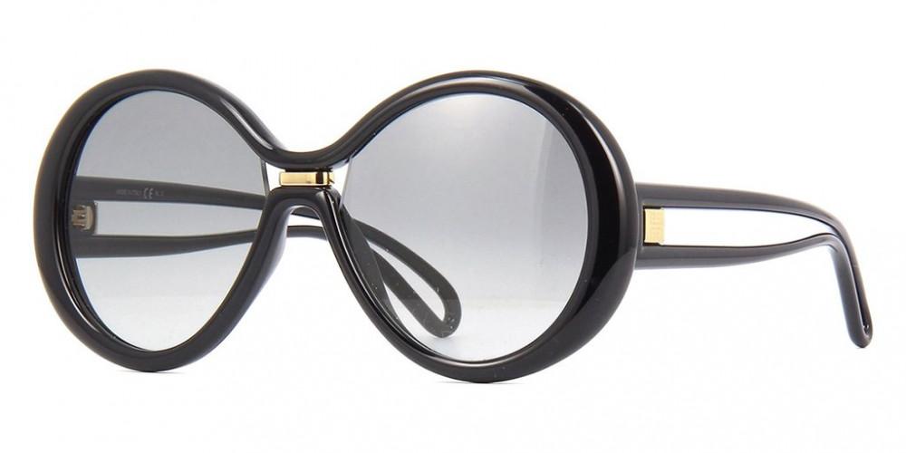 نظارات جفنشي الشمسية للنساء - شكل دائري - لون أسود - زكي