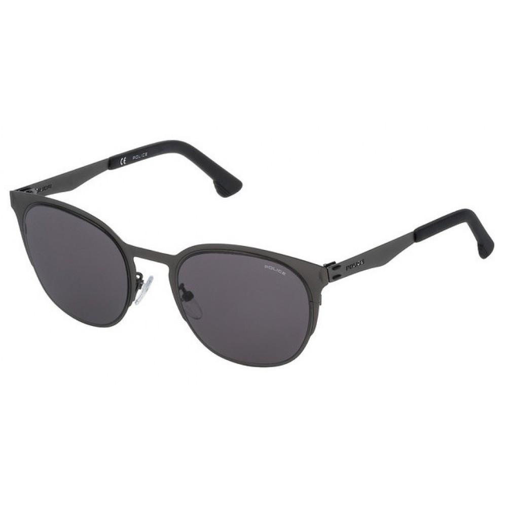 نظارة بوليس شمسيه للجنسين - شكل دائري - اللون رمادي - زكي للبصريات