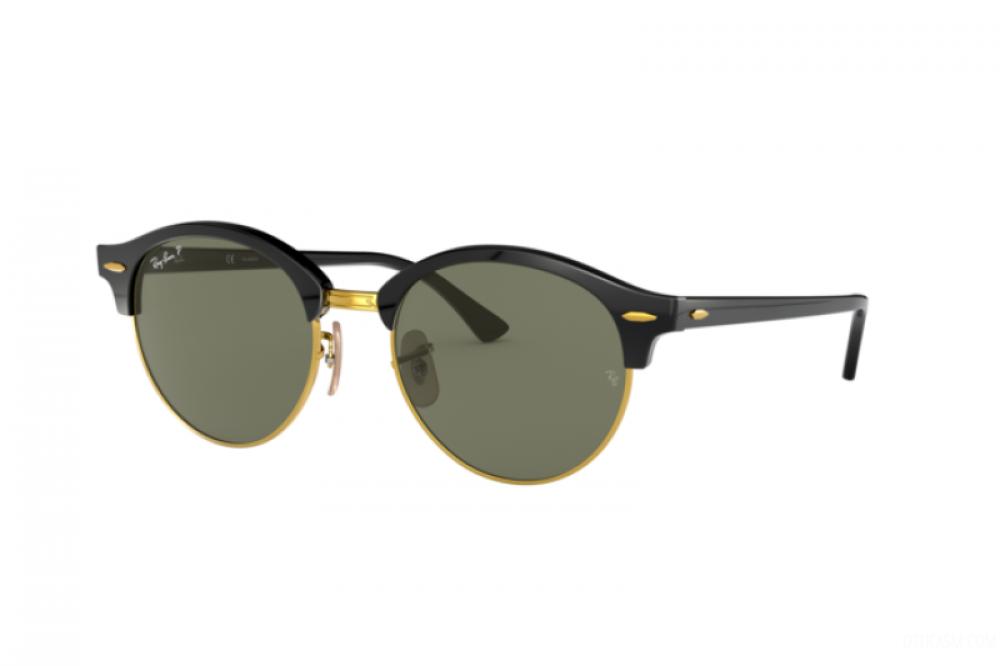 نظارة ريبان شمسية للرجال -  أسود - دائرية - زكي للبصريات