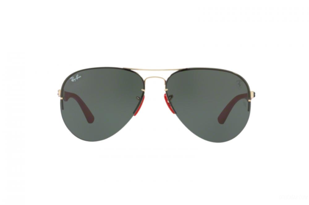 افضل نظارة ريبان شمسية للرجال - افياتور باللون الأسود - زكي للبصريات