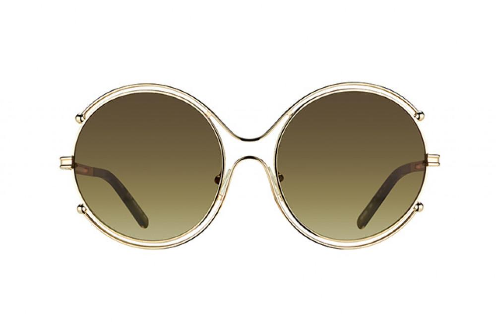 سعر نظارة كلوي شمسية للنساء - شكل دائري - لون ذهبي - زكي للبصريات