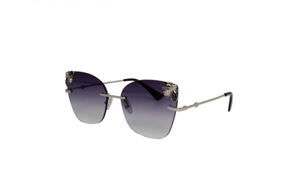 نظارة لومير شمسية للنساء - شكل كات أي - لون فضي - زكي