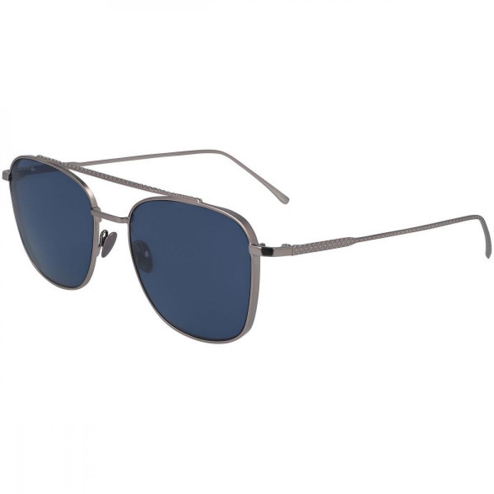 نظارة لاكوست شمسية لكلا الجنسين - شكل افياتور - لون فضي - زكي