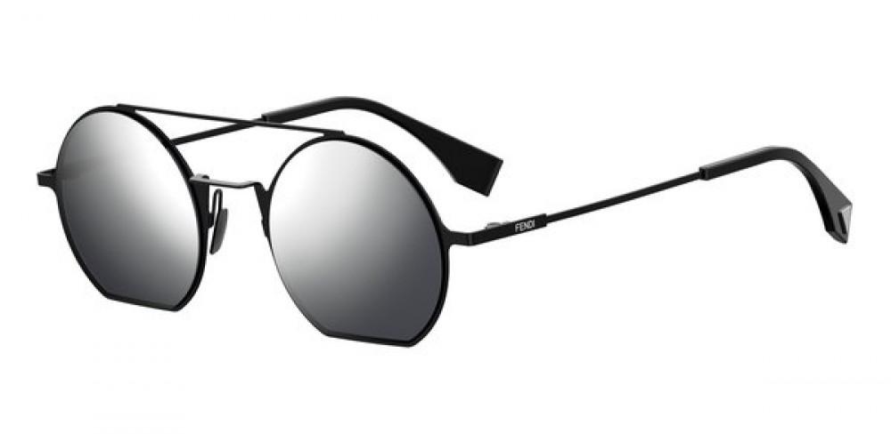 نظارة فندي نسائي شمسية - غير منتظمة الشكل - لون أسود - زكي