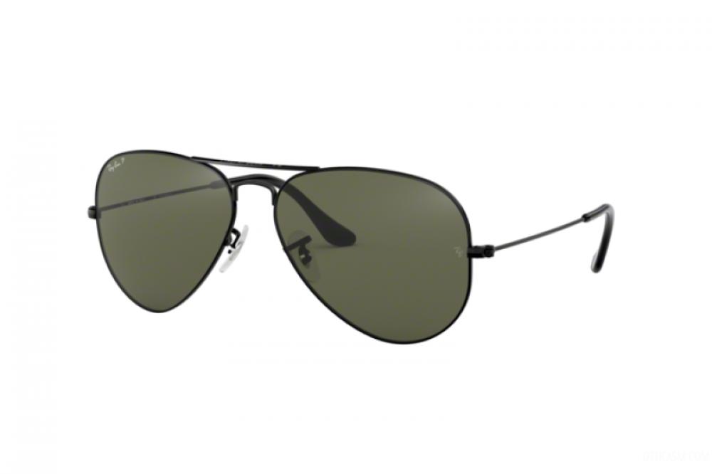 نظارة ريبان شمسية للرجال - لون اسود - افياتور - زكي للبصريات