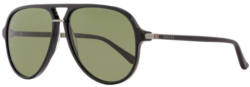 نظارة قوتشي شمسية للرجال - افياتور - لون اسود - زكي للبصريات
