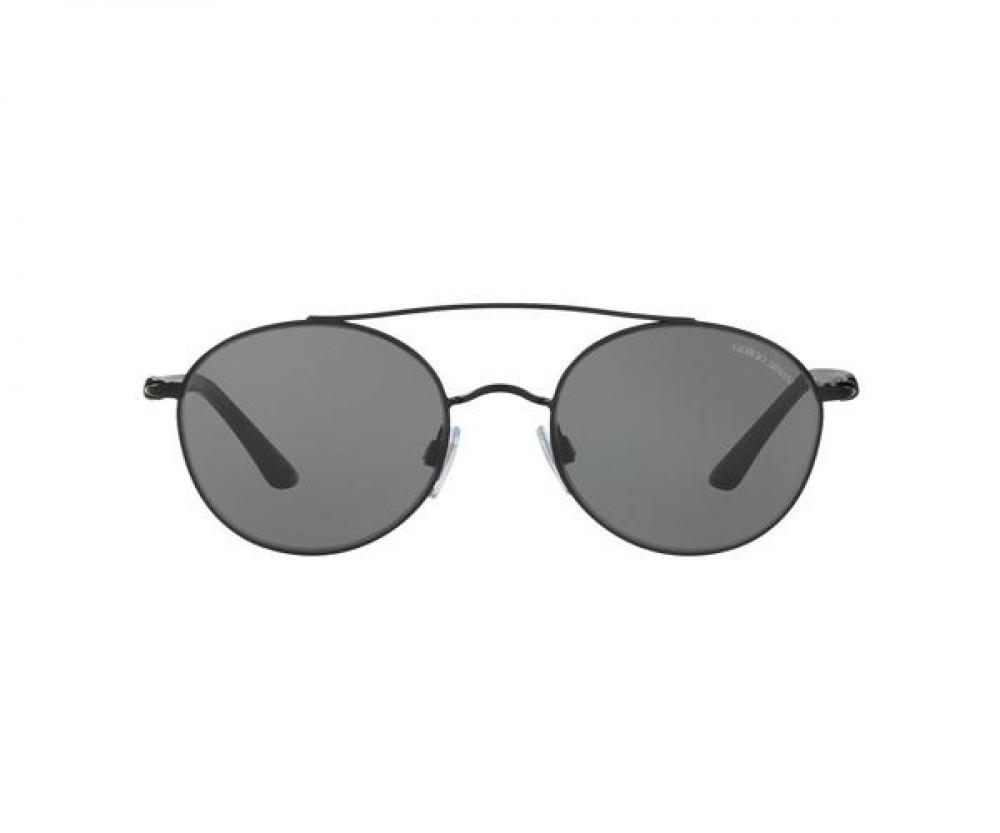 افضل نظارة جورجيو ارماني شمسية للجنسين - دائرية - لون أسود - زكي