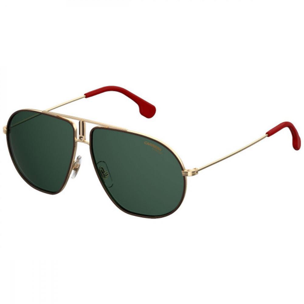 نظارة كاريرا شمسية رجالية - شكل أفياتور - لونها ذهبي - زكي للبصريات