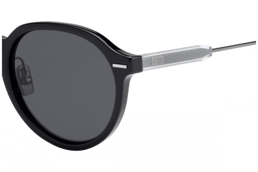 احسن نظارة ديور شمسية للرجال - شكل دائري - لون أسود - زكي للبصريات
