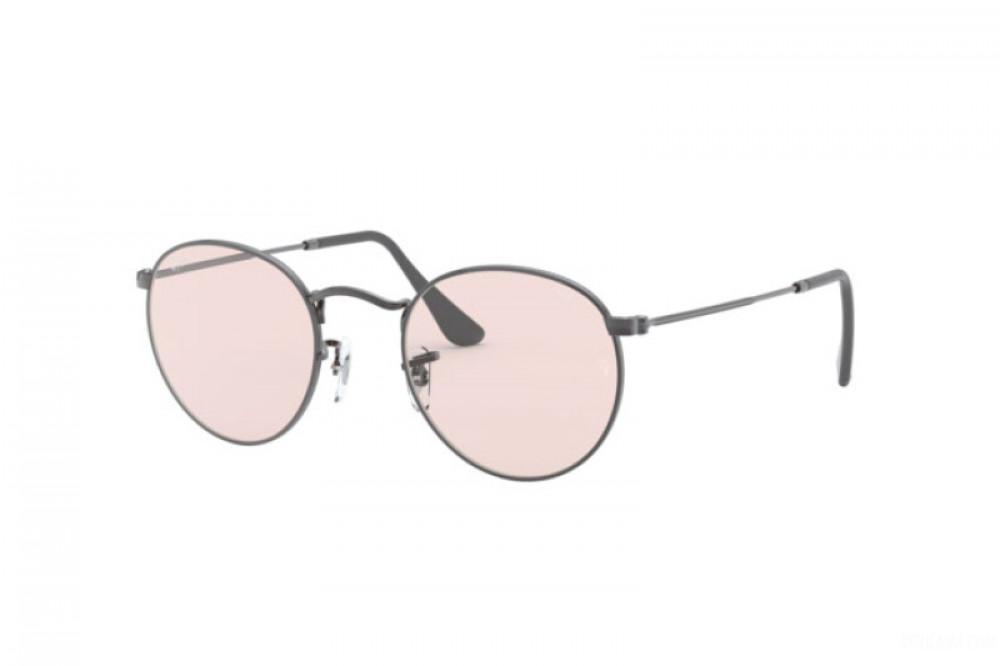 نظارة ريبان شمسية للرجال والنساء - شكل دائري - باللون الفضي - زكي