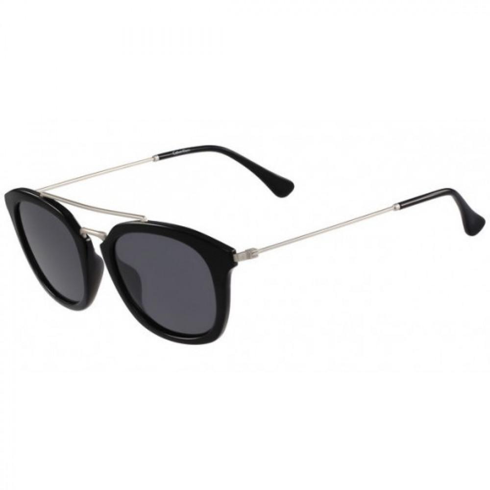 نظارات كالفن كلاين الشمسية للجنسين - غير منتظمة الشكل - لون أسود - زكي