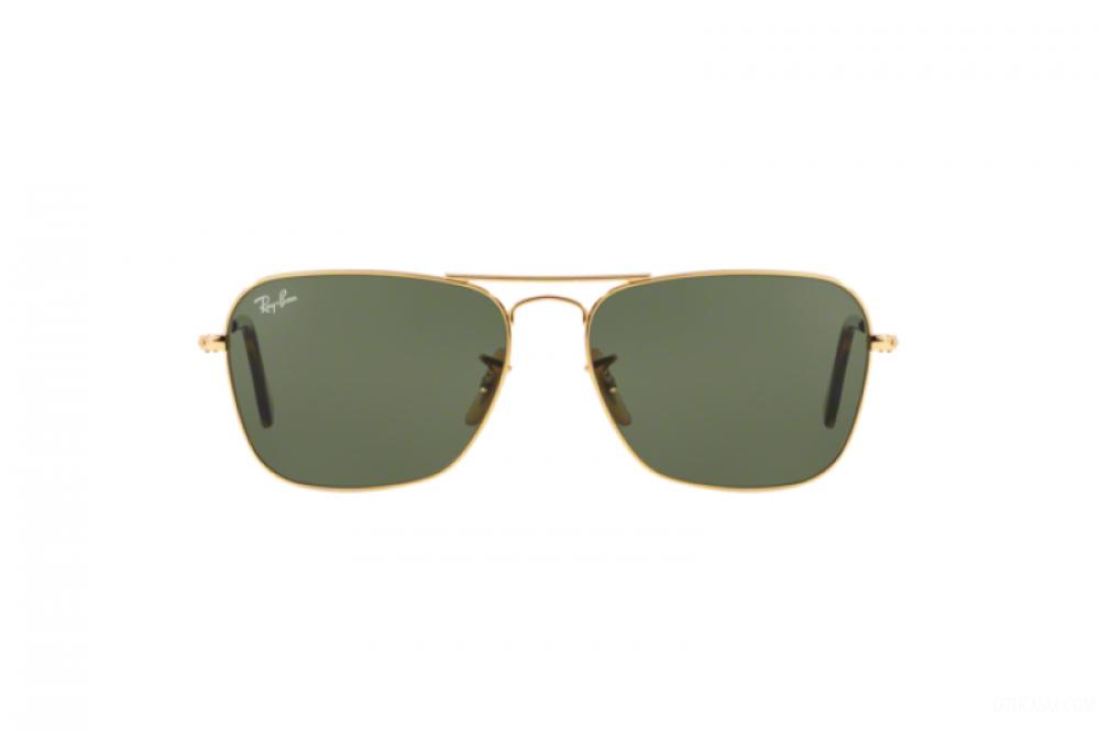 افضل نظارة ريبان شمسية رجالية ونسائية - مستطيلة - ذهبي - زكي للبصريات