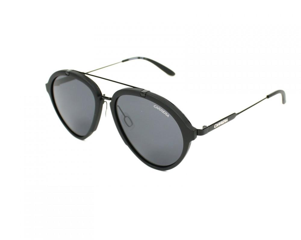 نظارة كاريرا شمسية للرجال - شكل افياتور - لون أسود - زكي للبصريات