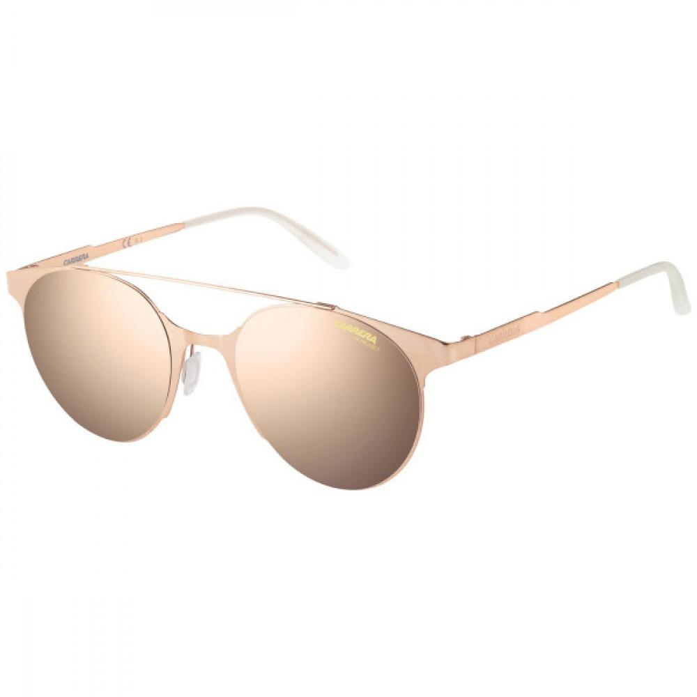 نظارة كاريرا شمسية للجنسين - شكل دائري - لون ذهبي - زكي للبصريات