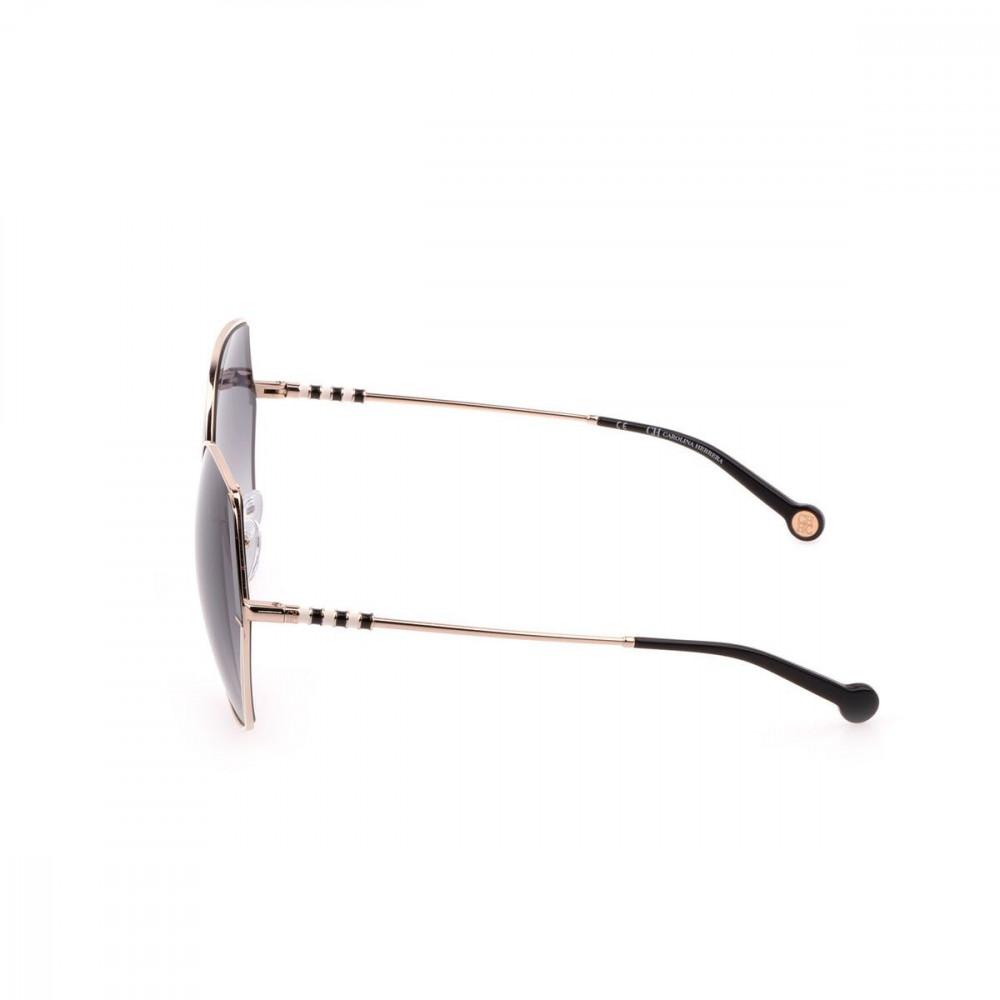 احسن نظارات كارولينا شمسية للنساء - شكلها غير منتظم - لون ذهبي - زكي