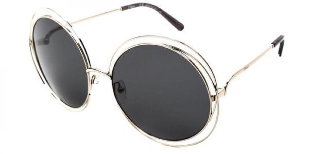 شراء نظارة كلوي شمسية للنساء - شكل دائري - لون رمادي - زكي للبصريات