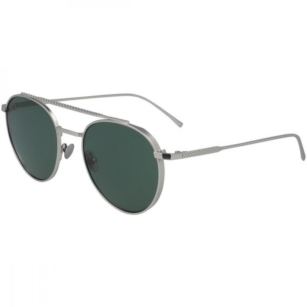 نظارة لاكوست شمسيه للجنسين - شكل دائري - لون فضي - زكي للبصريات