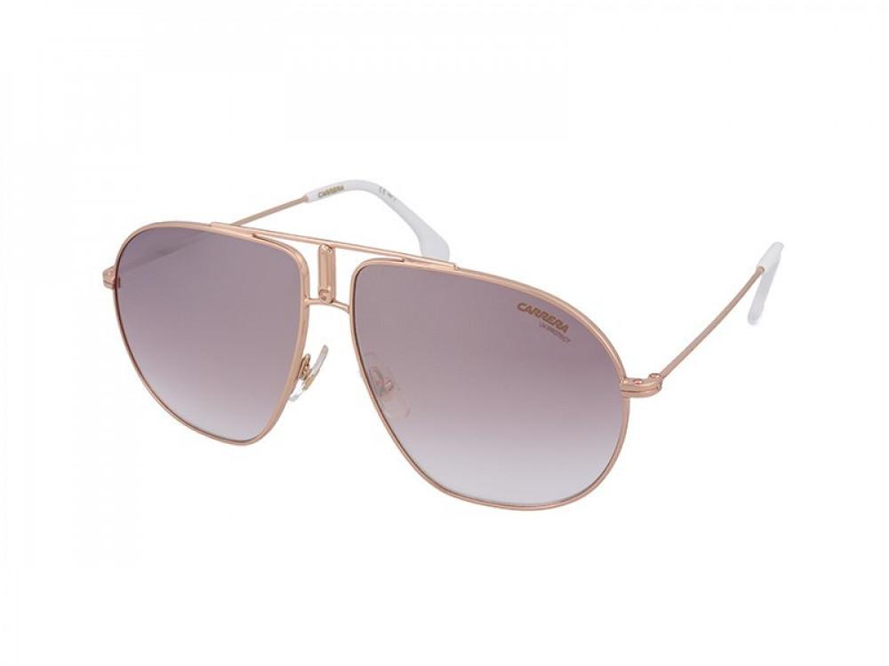 نظارة كاريرا شمسية للجنسين - شكل افياتور - لونها الذهبي - زكي للبصريا
