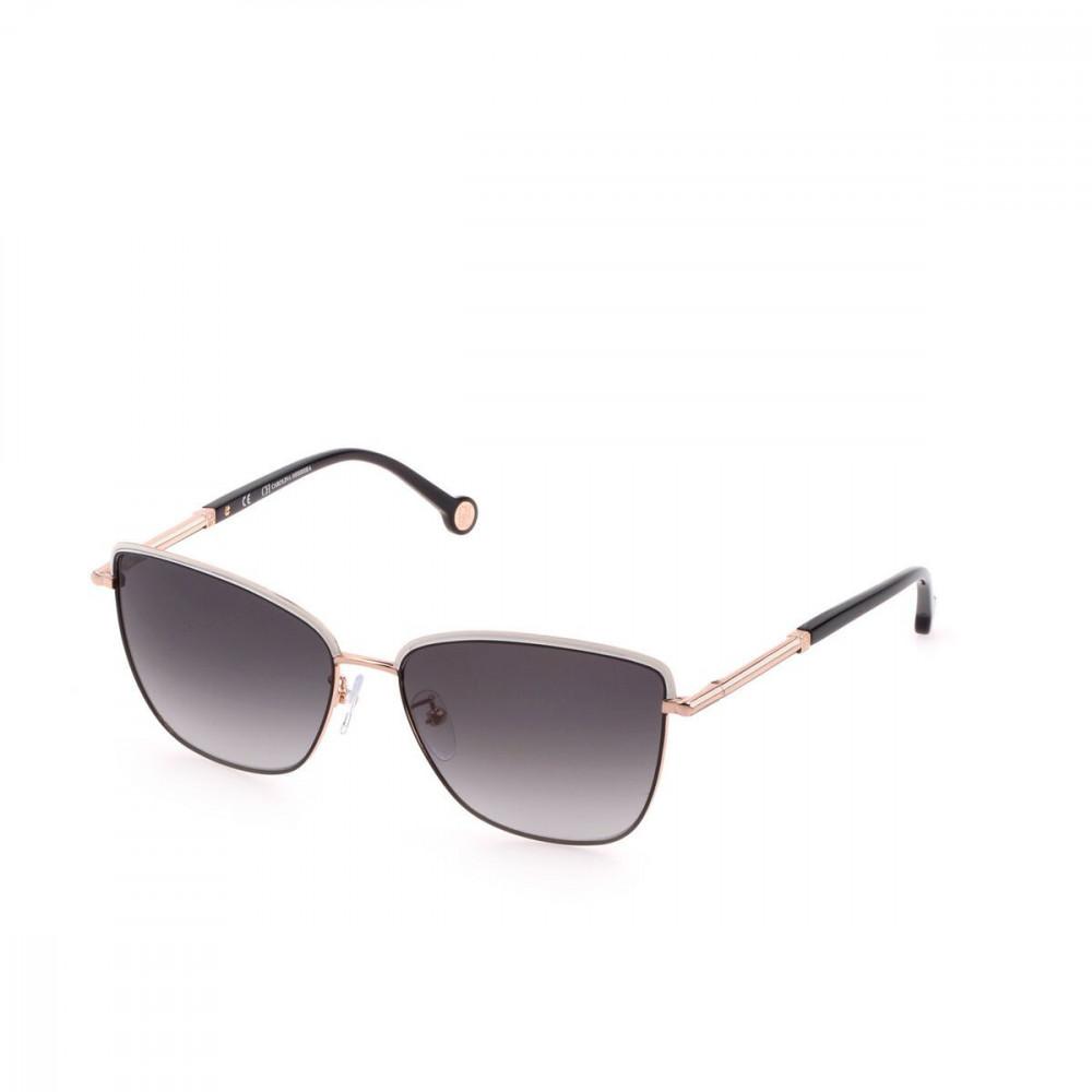 نظارات كارولينا شمسية للنساء - شكل كات اي - لون ذهبي - زكي