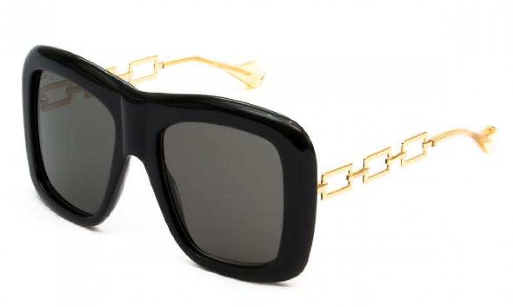 نظارة قوتشي نسائي شمسية - شكل مربع - لون اسود - زكي للبصريات