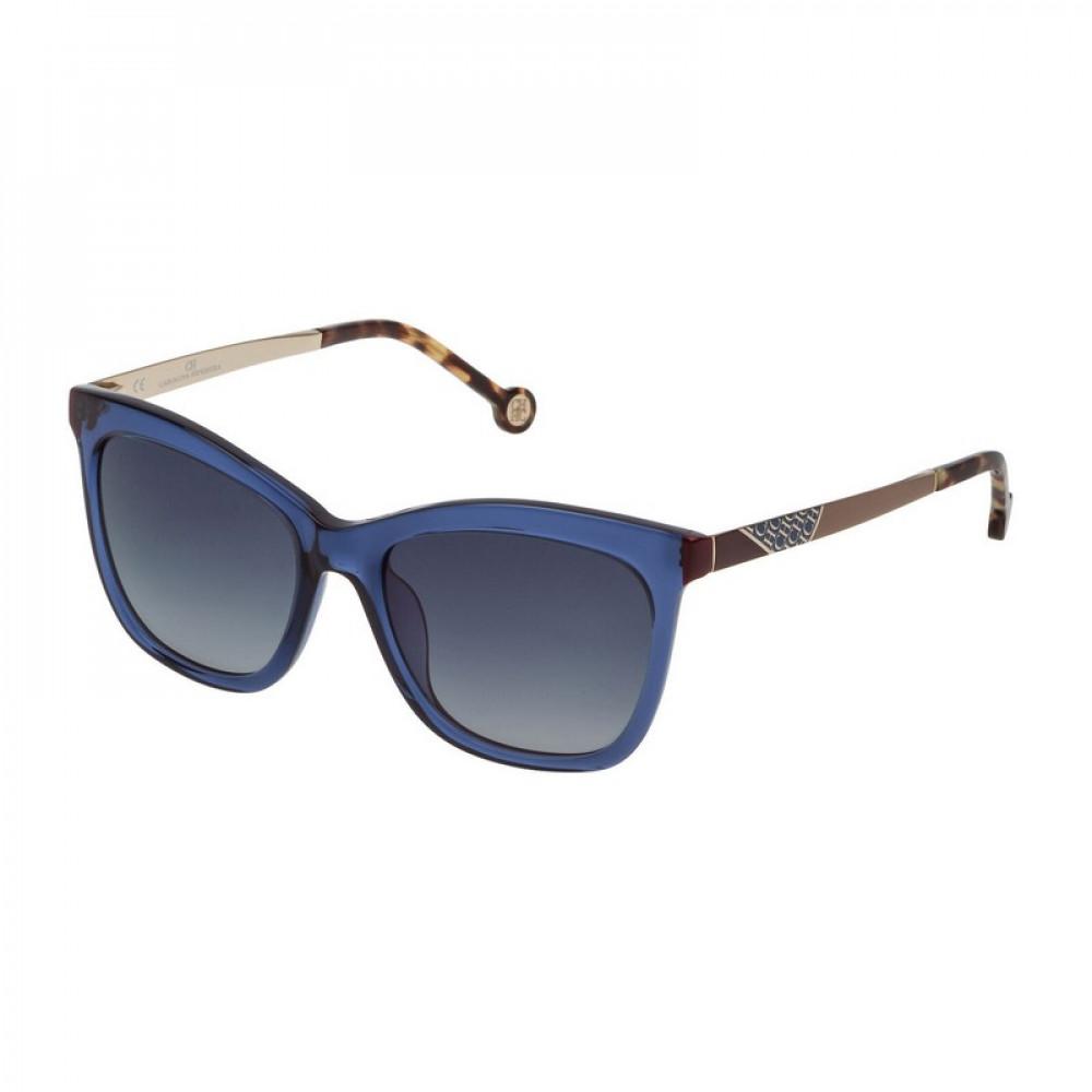 نظارات كارولينا شمسيه للنساء - شكل مربع - لون ازرق - زكي