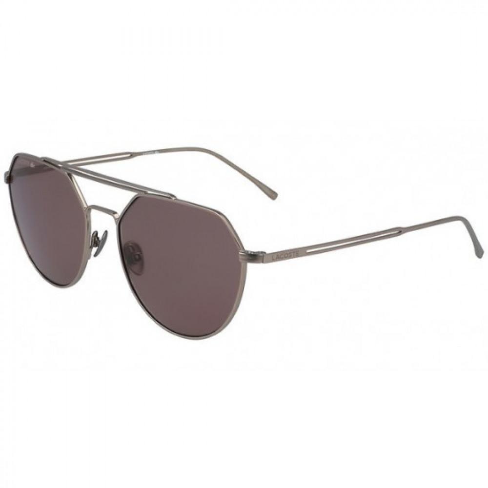 نظارة لاكوست شمسية للجنسين - شكل افياتور - فضي - زكي للبصريات