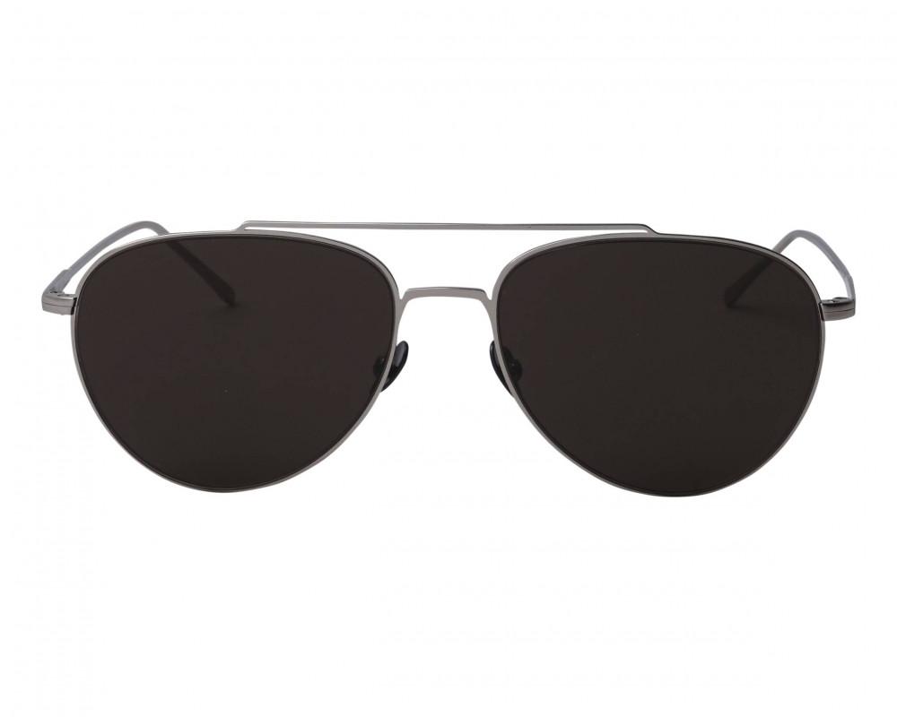 افضل نظارة لاكوست شمسية للرجال والنساء - شكل افياتور - لون فضي - زكي