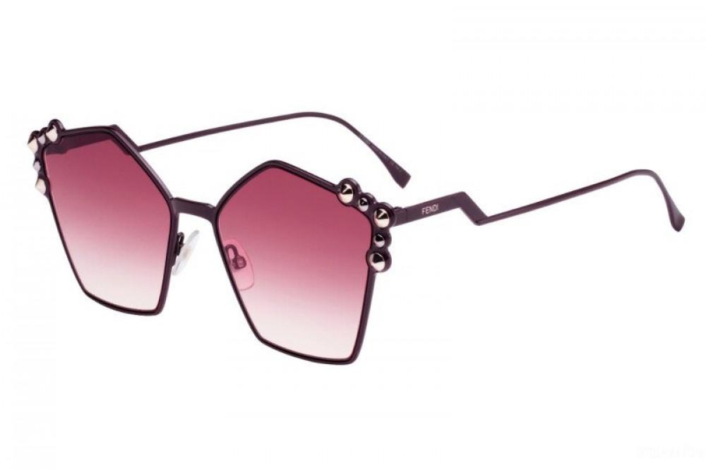 نظارة فندي نسائي شمسية - غير منتظمه الشكل - لون اسود - زكي للبصريات