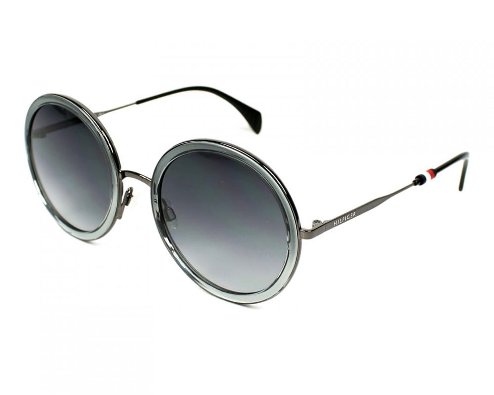 نظارات تومي هيلفيغر الشمسيه للنساء - شكل دائري - لون رمادي - زكي