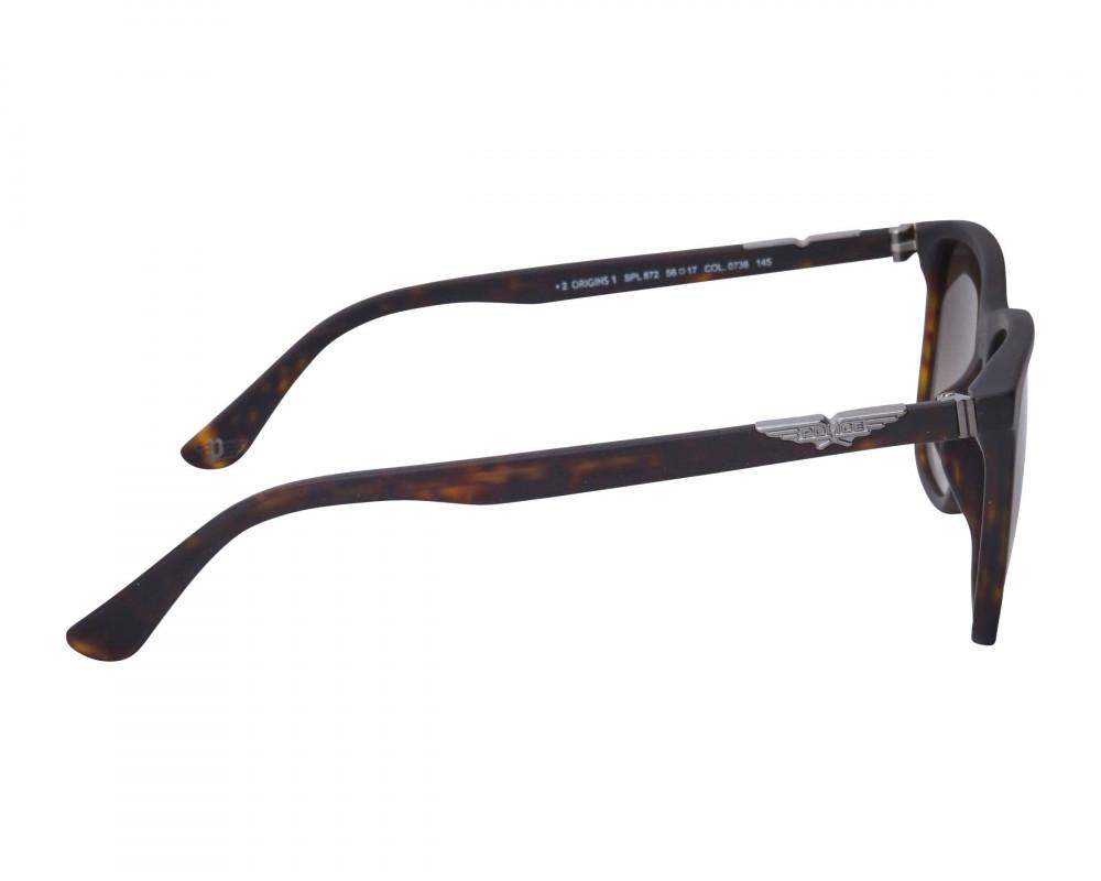 احسن نظارة بوليس شمسيه رجالية - شكل واي فيرر - لون أسود - زكي للبصريات