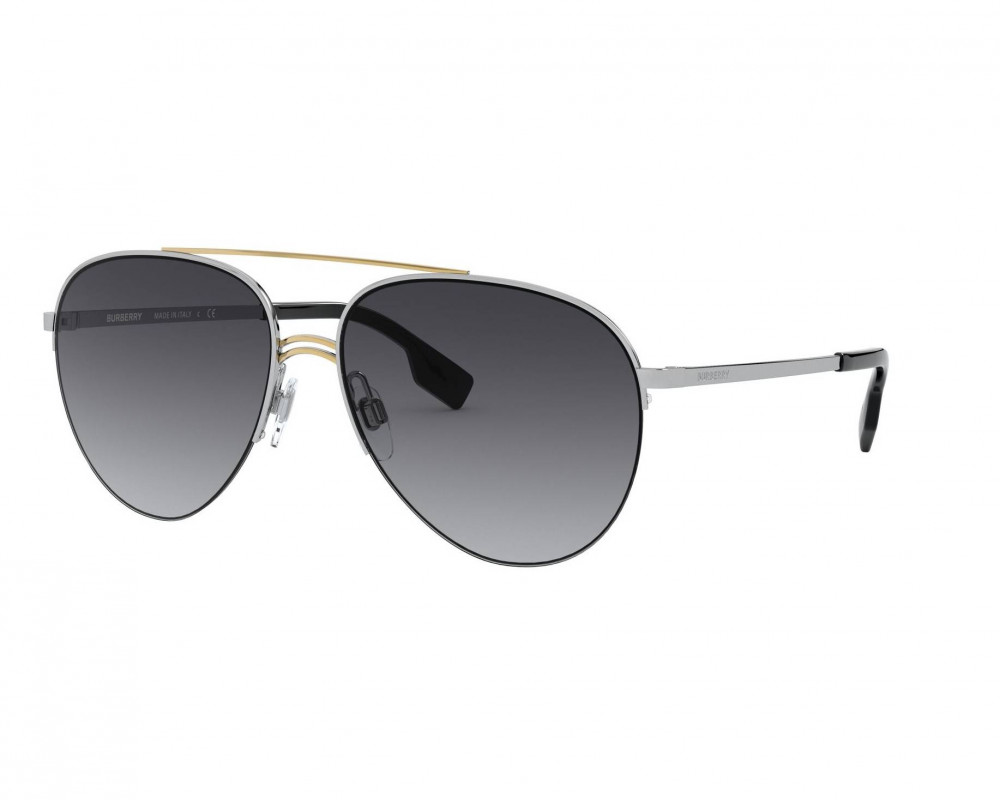 نظارة بربري شمسية للرجال - افياتور - لون فضي - زكي للبصريات