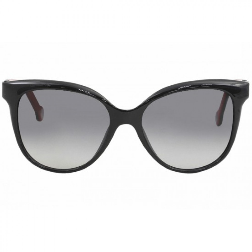 افضل نظارات كارولينا شمسية للنساء - شكل كات اي - لونها اسود - زكي
