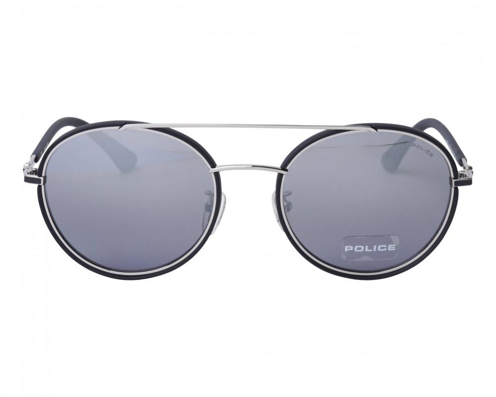 افضل نظارة بوليس شمسيه للرجال - شكل دائري - لون أسود - زكي للبصريات