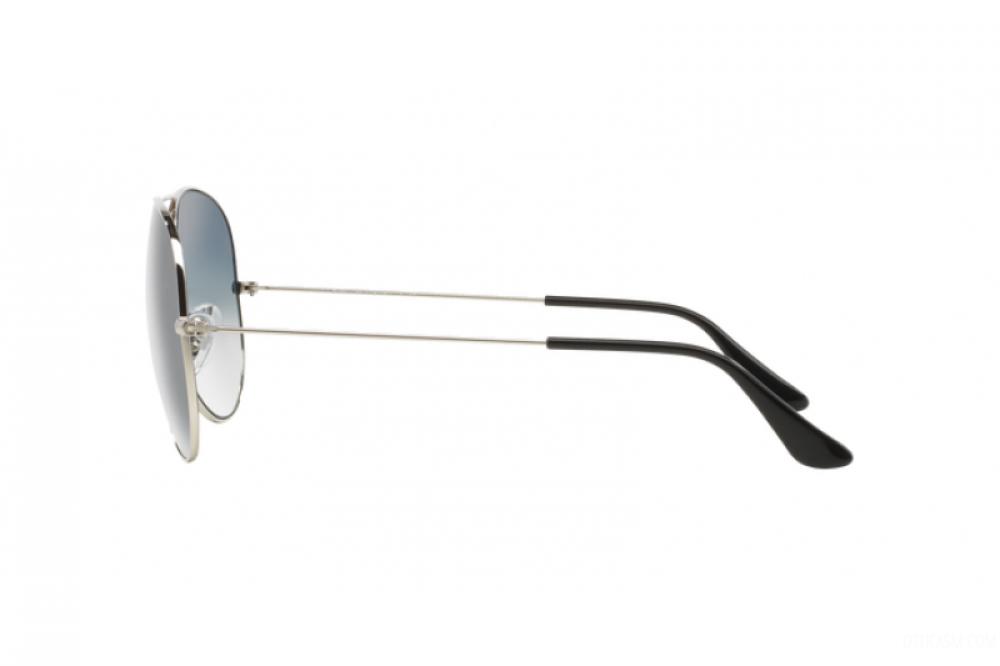 احسن نظارة ريبان شمسية رجالية - شكل افياتور - لون فضي - زكي للبصريات