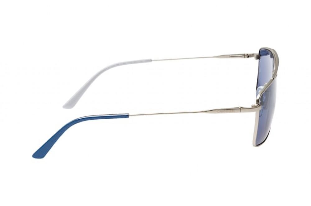 اسعار نظارات كالفن كلاين الشمسية للرجال - شكل مستطيل - لون فضي - زكي